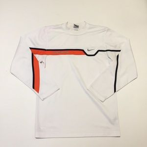 Nike Sphere Dry Mens S Athletic Shirt White Orange